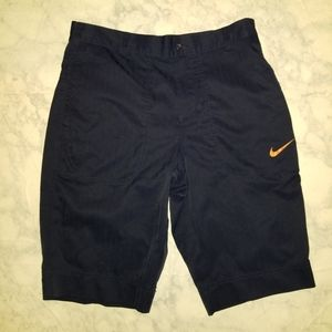 Nike Golf Navy Blue Shorts Size 30 Dri Fit Active